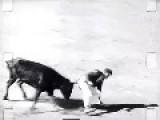 Ah, The Good 'Ol Days, Rampaging Bulls & Matadors - B&W Footage