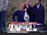 Announcers Lose It As Fan Sings To Goose At Football Game