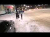 Audi S5 Drift Failed On Snow Road