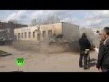 Anti-govt Militia Drifting On Ukrainian APC In Slavyansk
