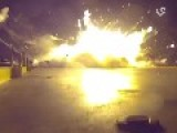Amazing Shrapnel Explosion! Different Angle Of Falcon 9 Crash