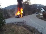 A Car Change To Fire Monster In Norway