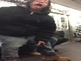 After Smoking A Blunt On The NYC Subway, This Dude Acts Like He's Done Lost His Mind