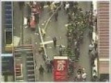 An Accident 2 Double-decker Bus Near Times Square