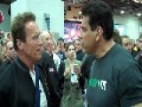 Arnold Schwarzenegger And Lou Ferrigno Meet At The Arnold Classic Expo