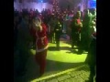 Arab Santa-Claus Dance In Haifa