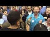 After 45 Minutes Of Interrupting A Trump Speech This Supporter Had Enough Spits In The Face Of A Pro