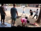 A FIGHT IN THE STREET IN THAILAND