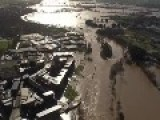 Aerial Footage Of Floods In Worcester
