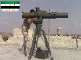 A Syrian Sunni Arab Citizen Tank Hunter Engages An Assad Regime 57mm Auto-cannon Position, With A BGM-71 ATGM: Idlib Governorate Oct