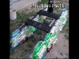A Boat Made ​​of Plastic Bottles