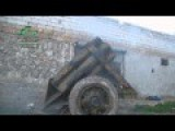Ahrar Al-Sham Brigade - Hell Jahanam Cannon Multiple Barrels Invention By Syrian Rebels Fires Upon Assad Positions Upgraded