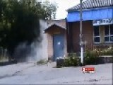 A Pro-Russian Terrorist Narrowly Avoids Death From Ukrainian National Patriotic Army Fire