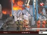 A Mall Burns Down In Shymkent