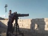 A Saudi Salafi Citizen Tank Hunter Gets A Hit On A Assad Innocent Dynasty Metal, With A TOW ATGM: Wadi Deif