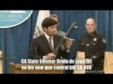 Anti-gun California State Sen. Kevin De Leon D-Los Angeles What?