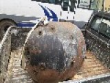 An Image Of An Unexploded Sea Mine Dropped By Assadists: Aleppo Governorate