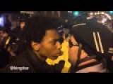 Awkward Stare-Down Between Protestor And Cop