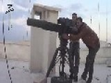 A Syrian Sunni Arab Citizen Soldier Hits A Regime 14.5mm Machine Gun, With A TOW ATGM: Aleppo Nov 9th, '14