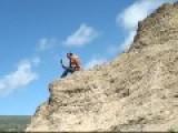 Azeri Reporter Falls Off A Cliff