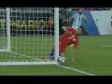 Argentina V Chile.. Gary Medel Hits The Post