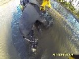 ATV Rider Sinks In Pond. Bonus Rescue Included!