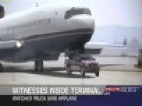 Airplane Is Being Stopped By A Truck