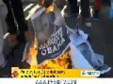Angry Protesters Burn Obama's Picture In South Africa
