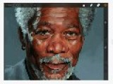 Artist Creates Realistic Morgan Freeman Painting Using IPad Air