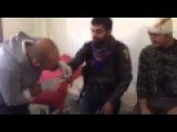 A Wounded YPG Solider Singing A Song For His Girlfriend