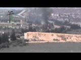 Assadist Metal Charcoal Tank Burning In Near Haysh Bridge, South Idlib
