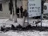 A 300mm 9M55K Rocket Body Protrudes From The Ground After Putin's Terrorists Fired On The Citizens Of Kramatorsk Feb 10th, '15