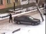 Axe-wielding Woman Wrecks Her Ex-husband's Car