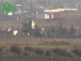 A Low Res View Of A Tank Hunter Getting A Hit On Assad Regime MBT, With HJ-8 ATGM: Hama