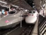 Bullet Train Japan Full Speed At Tokyo Station