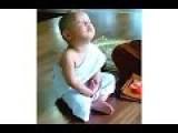 Baby Monk Meditates In An Unusual Way!