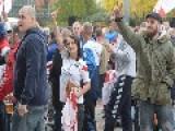 Birmingham : Scuffles Break Out As EDL And Anti-fascist Campaigners