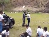 Brazil: Military Policewoman Grenade Training