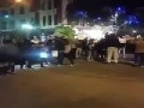 Black Lives Matter Protest Vs Fed Up Driver Hit And Run , Riverside California