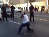 BLACK MAN Gets TAZERED In Middle Of Street = High On Bath Salts =