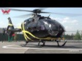 Black Helicopter Landing Footage