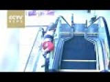 Boys Falls Off Escalator