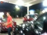 Bloody Girl Fight At Gas Station