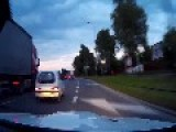 BMW M3 E92 Onboard Vs. Motorcycles Street Race In Warsaw, Poland