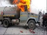 Brave As Hell Russians Put Out Burning Propane Tank Truck