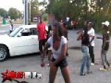 Black Guy Fights Black Girl = She Throws Some Good Punches