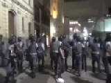 Brasil - Riot Police Officer Refuses To Charge Upon The Crowd