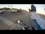 Biker Saves Kitten From Certain Death On Busy Road