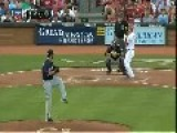 Baseball Umpire Gets Hit In The Head With Bat