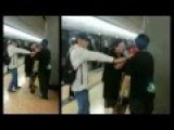 Boy Kicks Woman On Hong Kong Subway